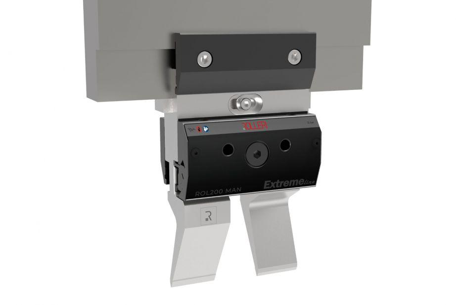 Manuelles Klemmsystem für Oberwerkzeuge mit doppelter Klemmung (vorne und hinten) geeignet für Werkzeuge Typ